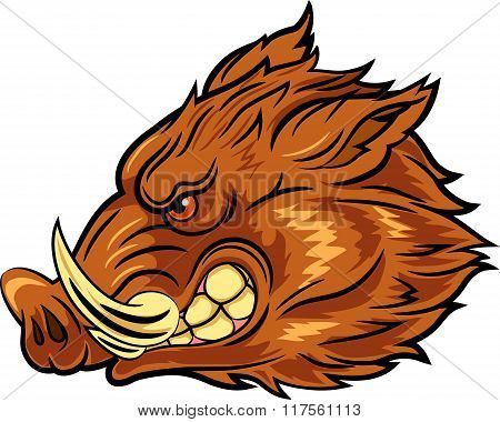 Head wild boar mascot