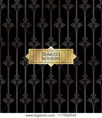 Seamless modern pattern golden texture background