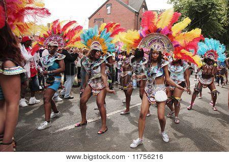 Girls Dancing In The Leeds Carnival