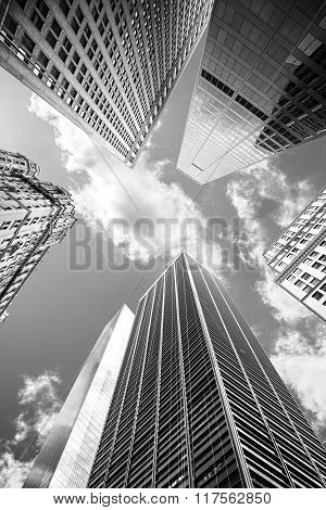 Looking Up At Manhattan Skyscrapers, Business Background