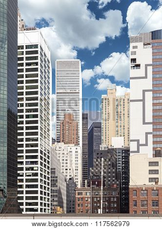 Picture Of Various Buildings In Manhattan, Nyc