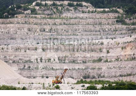 Extraction Of Minerals In The Sand Quarry
