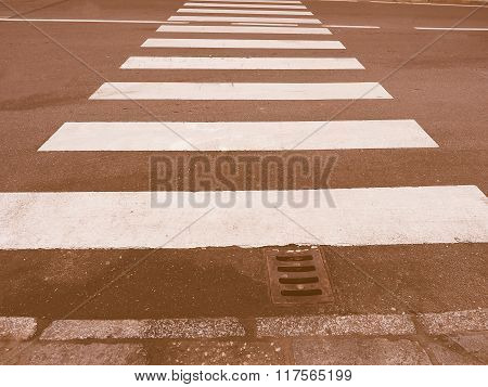 Zebra Crossing Sign Vintage