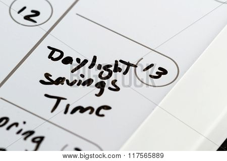 March 13, Daylight Savings Time