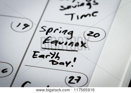 March 20, Spring Equinox