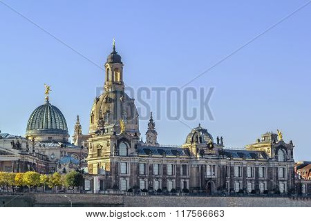 View Of Bruhl Terrace, Dresden, Germany
