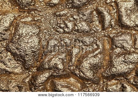 Gold painted polyethylene background