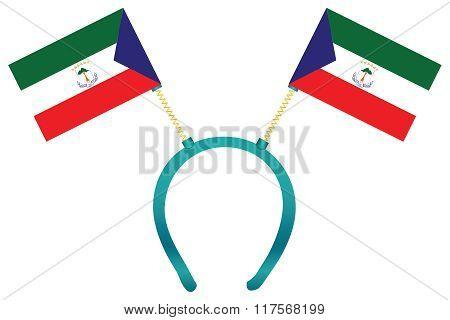 Headgear Flag Equatorial Guinea