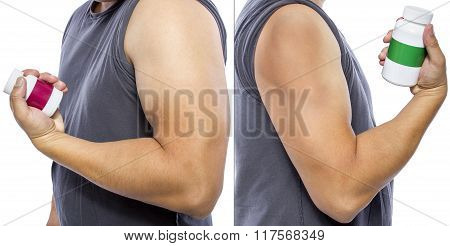 Results of Fat Burner on Biceps