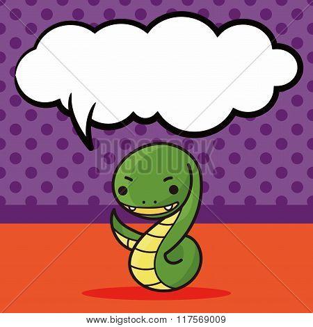 Chinese Zodiac Snake Doodle