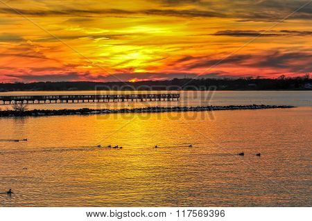 Sunset On The Chesapeake Bay Maryland
