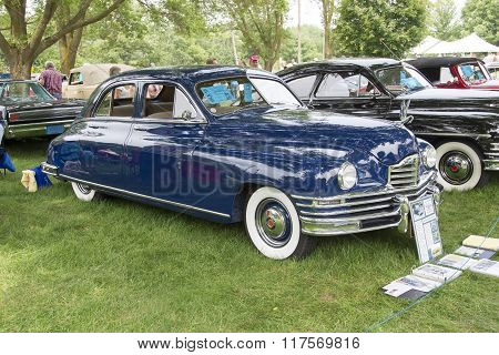 1949 Packard Blue Car