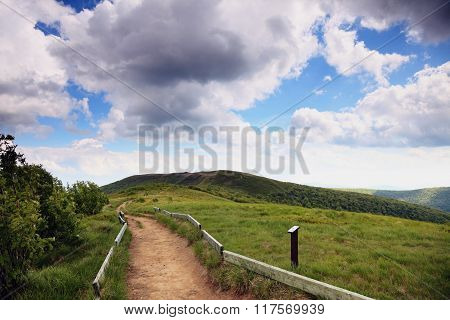 Nature. Road In The Mountains. Summer Landscape.