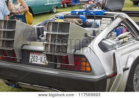 Delorean Dmc-12 Back To The Future Car Model Rear View