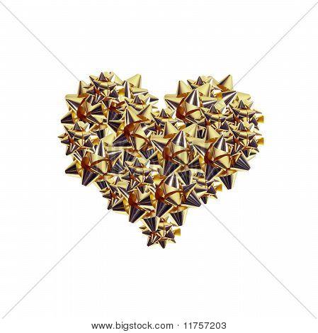 Golden Cockades Heart