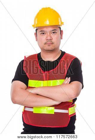 Asian Engineer arm cross