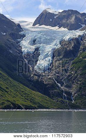 Glacier Heading To The Ocean