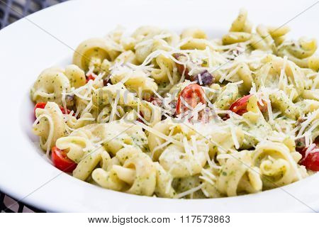 Trottole Dish With A Light Pesto