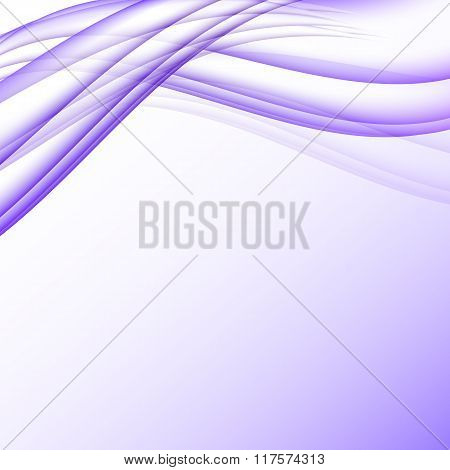 Purple And White Waves Modern Futuristic Abstract Background