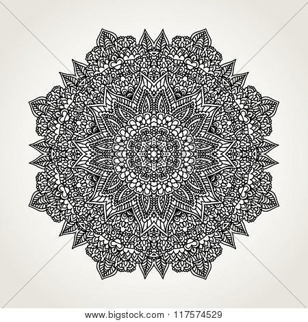 Ornate Doodle Mandala