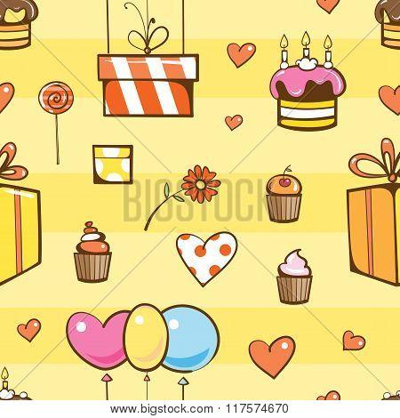 Birthday Seamless Pattern.