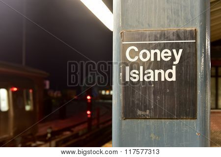 Coney Island Subway Station - New York City