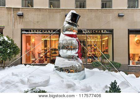 Snowman - Rockefeller Center