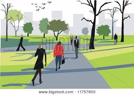 London park illustration