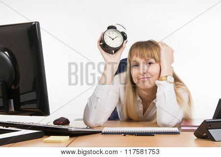 Dull Office Employee Knows What Lies Ahead Time