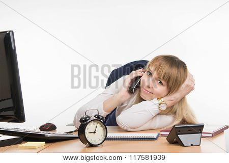 The Secretary Is Tired Of The Endless Phone Calls