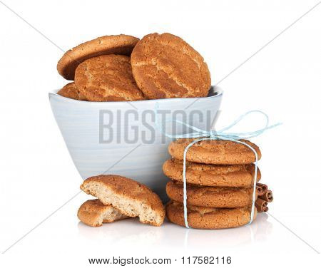 Homemade cookies. Isolated on white background