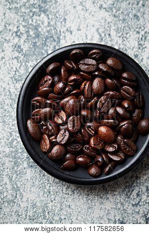 Dark espresso coffee beans