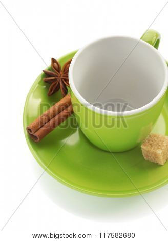 ceramic cup isolated on white background