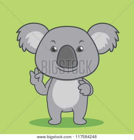 Smiling Cute Cartoon Koala
