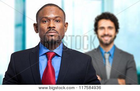 Couple of businessmen