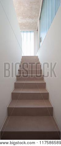 Modern minimal staircase, house