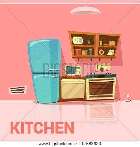 Kitchen Retro Design