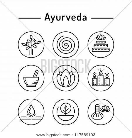 Ayurveda Set Icon