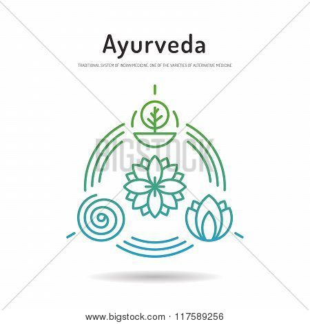 Ayurveda Set Icon 02