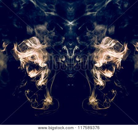 Abstract Of Smoke In The Air