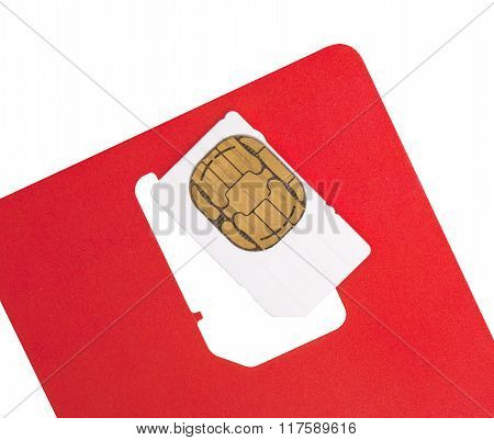 Blank Sim Card, Isolated