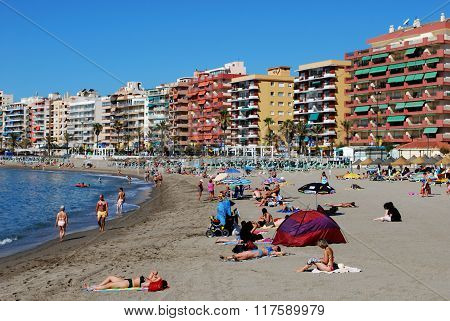 Fuengirola beach.