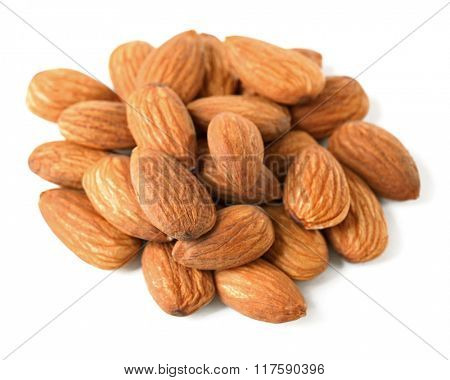 Almond kernels, isolated on white