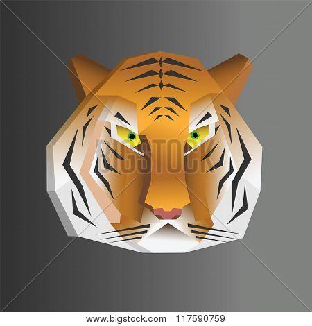 Polygonal Geometric Wpap Tiger Head