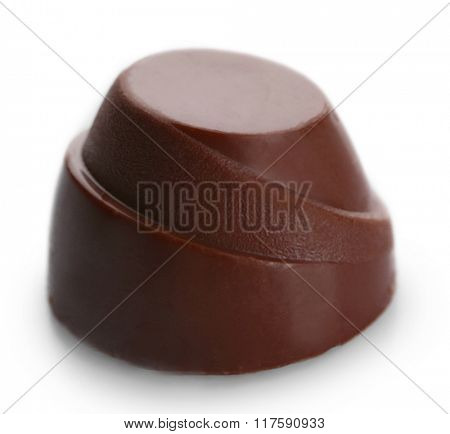 Chocolate candy, isolated on white