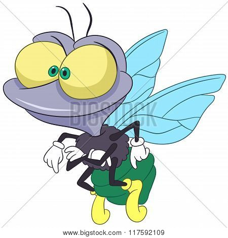 Cute Cartoon Fly