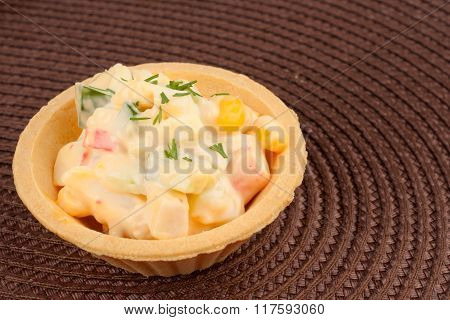 Tartlet With Salad