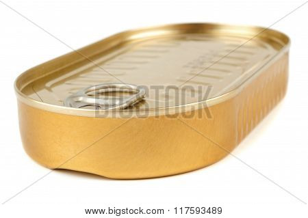 Closed Gold Metal Tin On