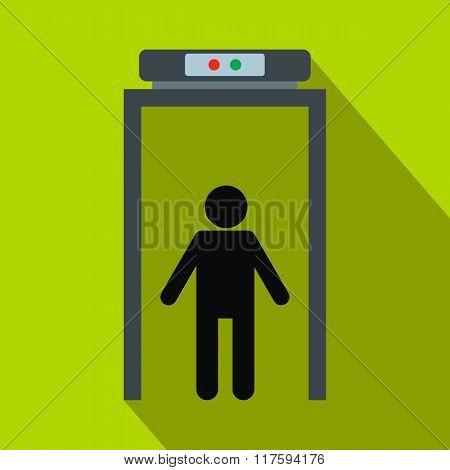 Metal detector flat icon