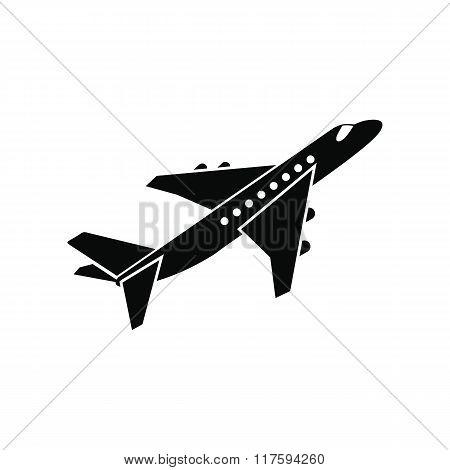 Passenger airplane black simple icon